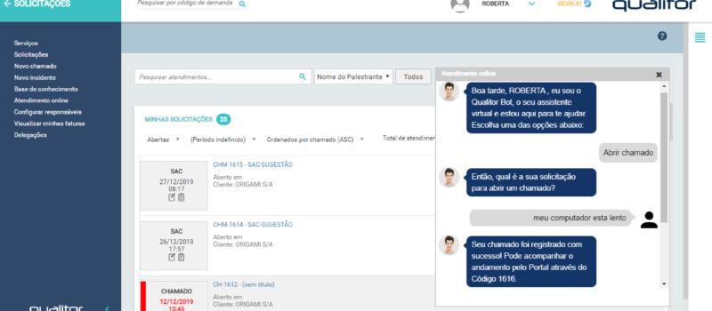 Atendimento via chat e chatbot